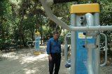 Σύγχρονα όργανα στο Πάρκο Υπαίθριας Άθλησης στο Άλσος Παγκρατίου