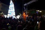 Φωταγωγήθηκε το Χριστουγεννιάτικο δένδρο του Πύργου