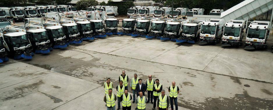 40 νέα οχήματα στη μάχη για μία Αθήνα καθαρή.Άλλα 150 μέχρι το Δεκέμβρη