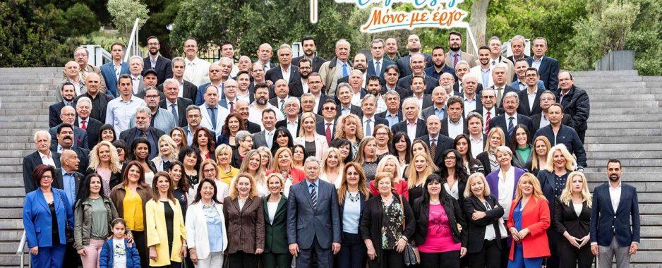 Όλα τα ονόματα των υποψηφίων του Σγουρού . Υποψήφιοι μαζί του και 5 πρώην δήμαρχοι